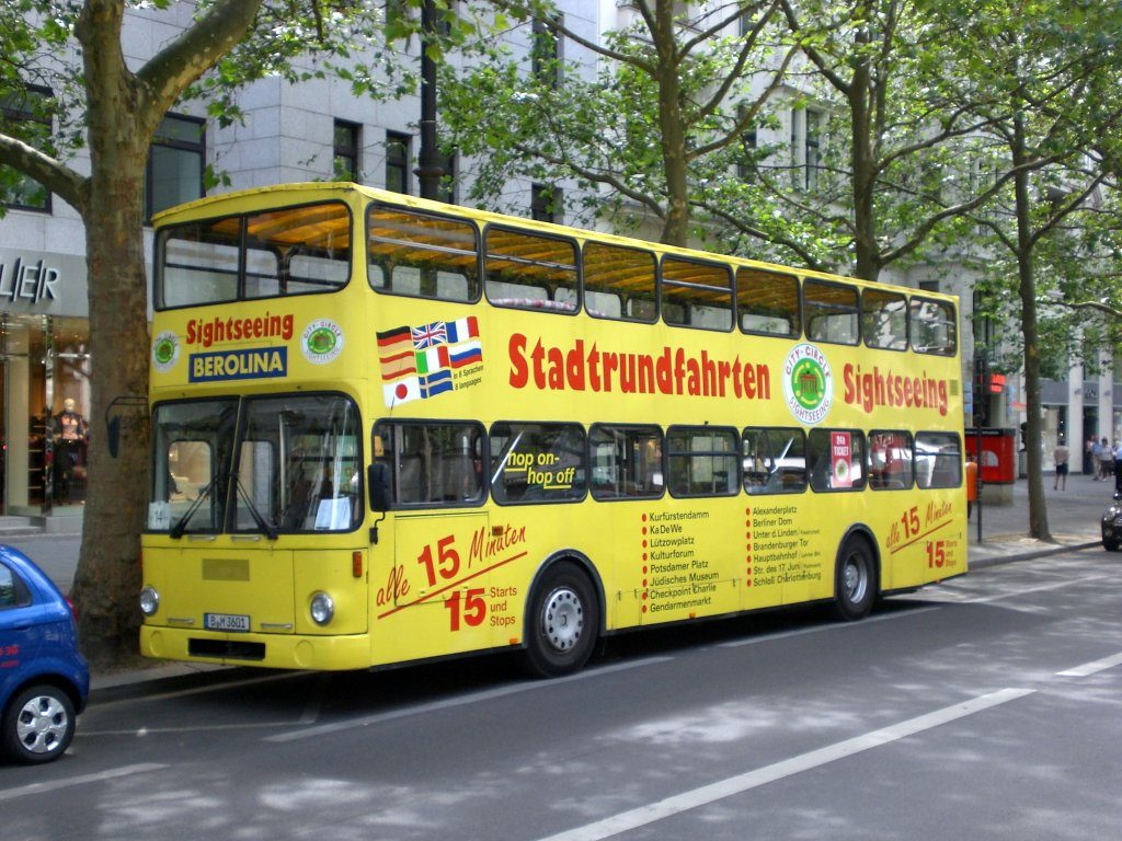 sightseeing i Berlin med hop-on hop-off